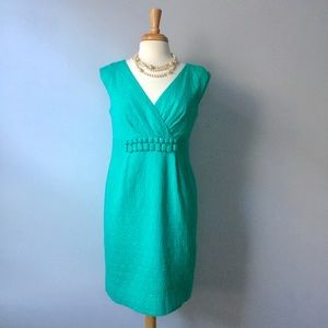 Taylor Short Sleeve Dress in Turquoise - Size 10